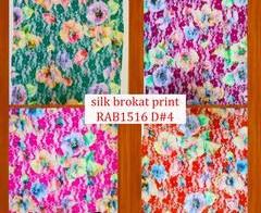Silk Brukat Print RAB1516 D#4